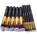 Taotaole 10 Pcs Professional Makeup Set Pro Kits Brushes Makeup Cosmetics Brush Tool (Gold)