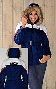 NFL- New York GIANTS Ladies The Looker Jacket with Faux Fur TrimHood~ 2XL by G 111