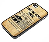Under Cover Back To The Future Save The Clock Tower Fits IPhone 5 Cover 3 IPhone - Black Rubber