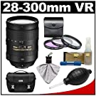 Nikon 28-300mm f/3.5-5.6 G VR AF-S ED Zoom-Nikkor Lens with 3 UV/FLD/CPL Filters + Case + Cleaning Accessory Kit for D4, D7100, D7000, D5300, D5200, D5100, D3200, D3100, D800, D600 Digital SLR Cameras