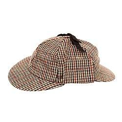 Sherlock Holmes Style Tweed Deerstalker Hat.