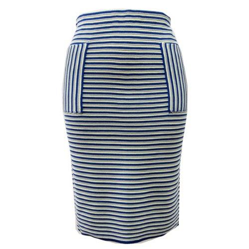 (ムルーア)MURUA マルチボーダータイトスカート 011410800501 ライム(ブルー) 2(M)