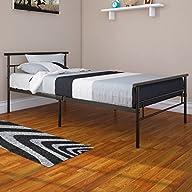 Rack Furniture Seattle Twin Metal Bed Frame – Great for Kids – Black
