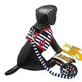 Alfie Couture Designer Pet Accessory - Vince Sailor Harness and Leash Set - Color: Blue, Size: XS