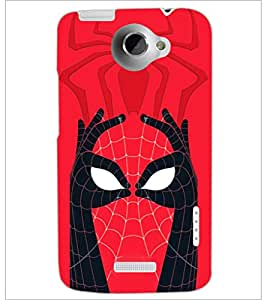 PrintDhaba Spider face D-3971 Back Case Cover for HTC ONE X (Multi-Coloured)