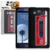 Tigerbox Flexible Silicone Retro Cassette Tape Style Skin Cover Case for Samsung Galaxy S3 i9300 Mobile Phone (Black)