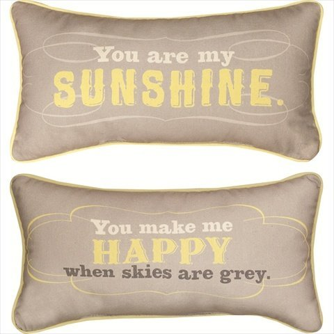 Buy Manual Reversible Throw Pillow, You Are My Sunshine, 17 X 9-Inch