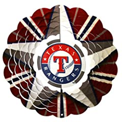 Iron Stop Texas Rangers Wind Spinner by Iron Stop