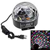 IMAGE® Stylish 20W DMX Voice-activated RGB LED Crystal Magic Ball Laser Effect Light For Disco DJ Party Bar Club Christmas Show(US regulatory plug)5 Mix Colors (red, green, blue, orange, white)
