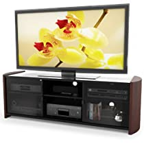 Sonax ML-3609 Wood Veneer TV Stand for 50-Inch-65-Inch Flat Panel TV's