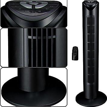 syntrox germany turmventilator tower mit fernbedienung 7 5 stunden timer und oszillation us14. Black Bedroom Furniture Sets. Home Design Ideas