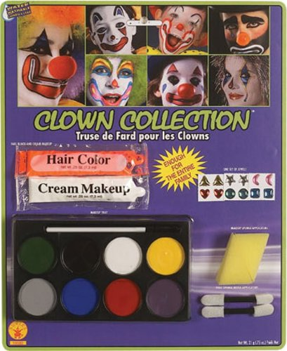 Rubie's Costume Complete Clown Makeup Kit, White, One Size