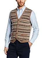 Hackett London Chaleco Fisle Bt Vest (Marrón)