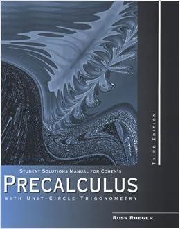Precalculus fifth edition