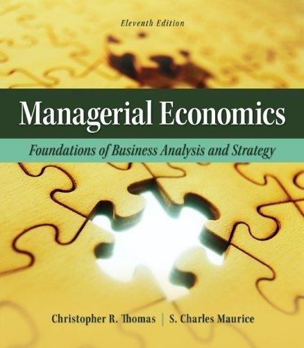 managerial economics analyzing strategic behavior in