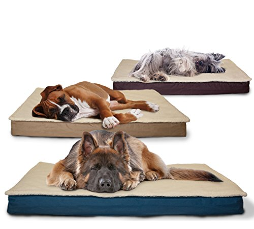 FurHaven-NAP-Pet-Bed-Egg-Crate-Orthopedic-Pet-Mattress-Deluxe-Dog-or-Cat-Bed-Water-resistant-base
