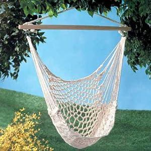 Amazon Com White Cotton Rope Swing Hammock Hanging