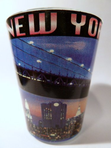 New York City Postcard 017 Shot Glass