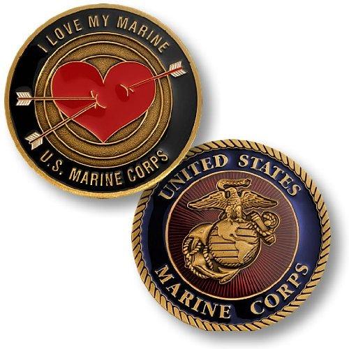I Love My Marine Challenge Coin - 1