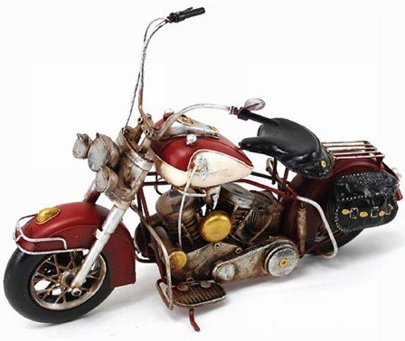 Lesser & Pavey 6-Piece Metal Motorbike Collectible, Red