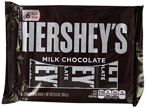 Hershey's Milk Chocolate Bars, 6 ct,  9.3 oz
