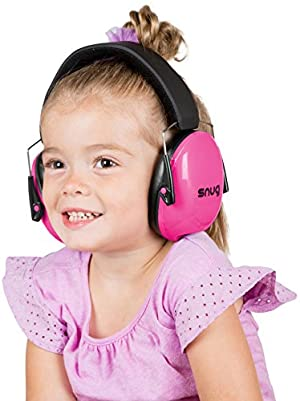 Snug Kids Earmuffs / Best Hearing Protectors - Adjustable Headband Ear Defenders For Children and Adults (Pink) (Color: Pink)
