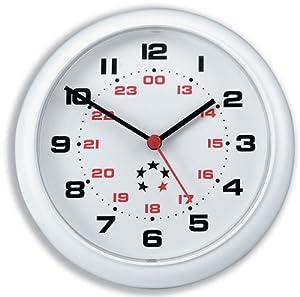5 Star Horloge murale Plastique Blanc Diamètre 213 mm