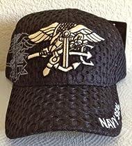 Mesh Navy Seal Ball Cap(Black)