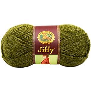 Lion Brand Yarn 450-134D Jiffy Yarn, Avocado
