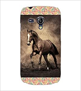 PrintDhaba Horse D-4629 Back Case Cover for SAMSUNG GALAXY S3 MINI (Multi-Coloured)
