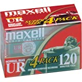 MAXELL UR-120 Blank Audio Cassette Tape -4 pack