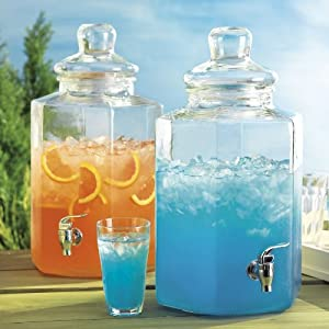 Del Sol Hexagonal Cold Beverage Dispenser Jug With Spigot 2.5 Gallon