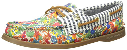 Sperry Top-Sider Women's Authentic Original Liberty Boat Shoe, Bright Blue, 8.5 M US