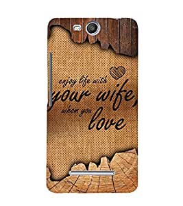 Enjoy Life With Your Wife 3D Hard Polycarbonate Designer Back Case Cover for Micromax Canvas Juice 3+ Q394 :: Micromax Canvas Juice 3Plus Q394