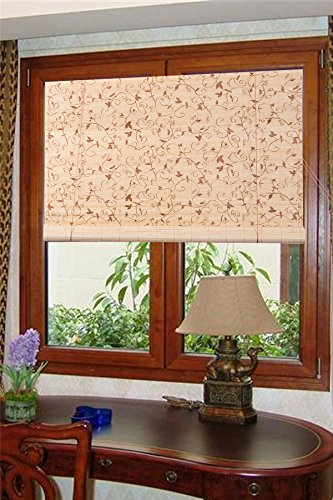 Natural Bamboo Roll Up Window Blind Sun Shade WB-BCT001 (W48