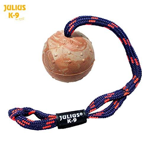 242BLC-70-Julius-K9-Noppenball-Schleuderball-mit-Schlaufen-Schnur-zur-Motivationsarbeit-Spiel--70mm-K-9