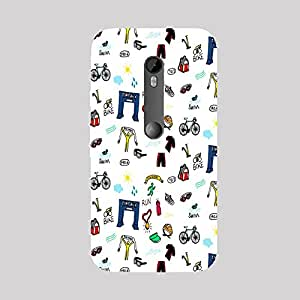 Back cover for Moto X Force Triathletes