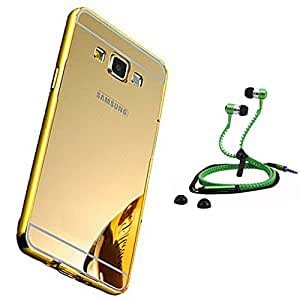 Droit Luxury Metal Bumper + Acrylic Mirror Back Cover Case For + Samsung Galaxy Grand 2 Stylish Zipper Handfree and Good QualitySound by Droit Store.
