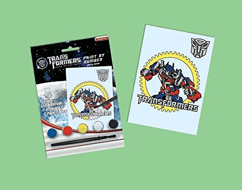 Transformers Party Favors - 1 Paint by Number Kit - 1