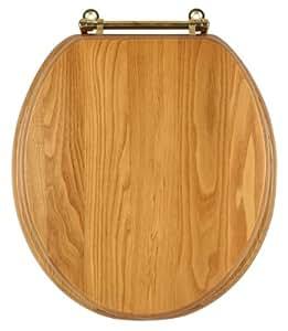 Dalton 561241 Round Toilet Seat, Honey Oak