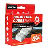 Esbit 1400 Degree Smokeless Solid Fuel Cubes for Backpacking, Camping and Hobby - 12 Pieces Each 14g