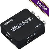 COWEEN HDMI to RCA コンポジット 1080P 音声出力可 HDMI to AV 変換アダプター カーナビ PS3 PS4 Blue-Ray DVD 光BOX TVボックス等対応 HDMI2AV コンバーター