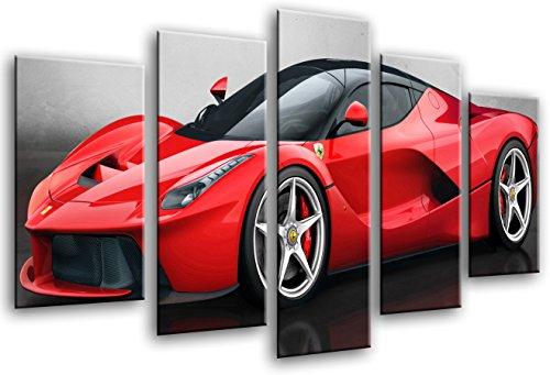 cuadro-moderno-fotografico-coche-deportivo-ferrari-rojo-165-x-62-cm-ref-26436