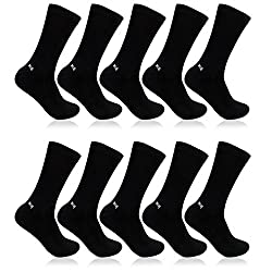 Bonjour Mens Black Cotton 10 Pairs Health Socks _BS220-BK-PO10