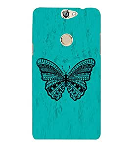 Graphical Butterfly 3D Hard Polycarbonate Designer Back Case Cover for Coolpad Max A-8