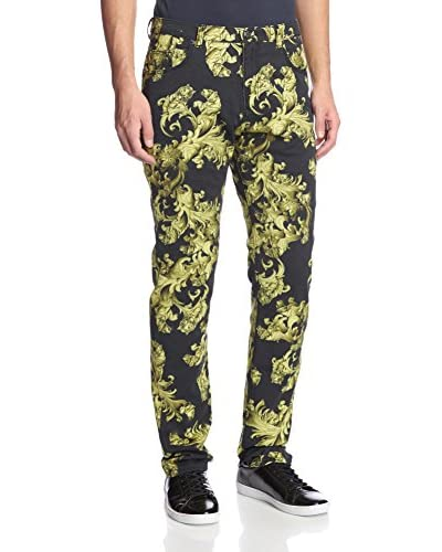 Versace Jeans Men's Allover Print Slim Fit Jeans