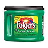 Folgers Coffee Classic Roast Decaffeinated Ground 226 oz Can