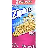 Amazon Com Ziploc Sandwich Bag Value Pack 100 Count