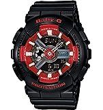 G-Shock Women's BA110SN Black/Red Watch