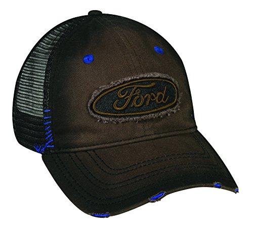 outdoor-cap-6-panel-ford-logo-cap-brown-black